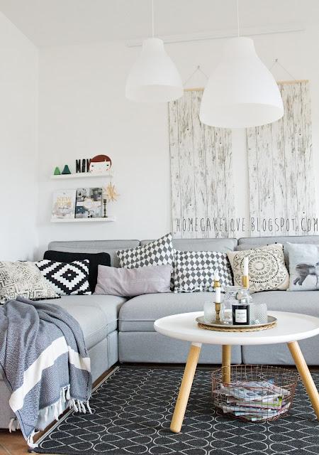 Ikeasofa, neues Sofa von Ikea, Vallentuna von Ikea, Sofa in grau, skandinavisch wohnen,Wohnzimmer,Kissen machen das Sofa noch gemütlicher,Tapete ohne tapezieren anbringen