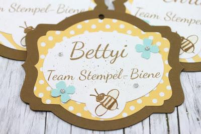 stampin up teamtreffen, namensschilder stampinup, team stempel-biene, stampinup bestellen