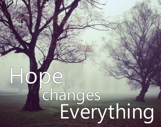 "Hope Changes Everything ""God is most certainly at work, whether we can see it or not. Life seasons change, often much slower or quicker than we would like. But in every season there is hope."""