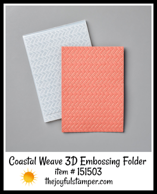 Coastal Weave 3D Embossing Folder | item #151503