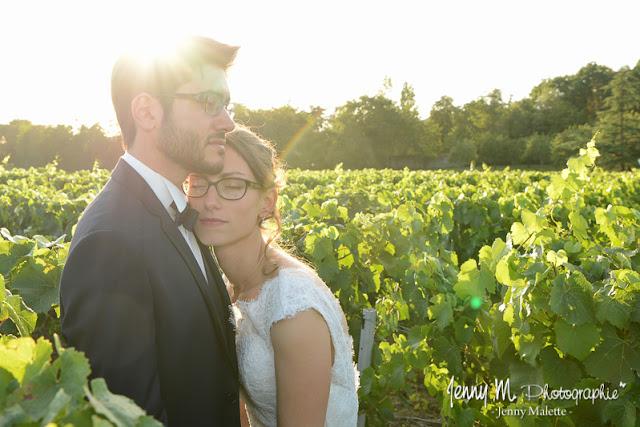 photos de couple portraits mariés Jardin Cléray Vallet mariage