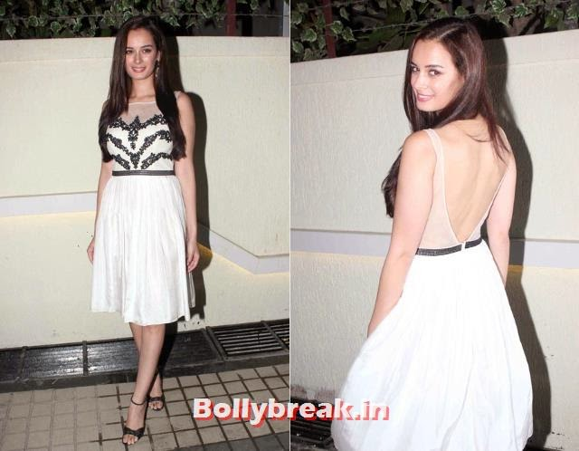 Evelyn Sharma, Bollywood Actresses Backless Gowns Photos on Red Carpet