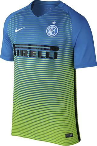 Nueva replicas camisetas futbol Inter tercer 2016 2017 - Uniforme diseñado  para juegos nocturnos y para llevar a cabo los músculos de los jugadores  con los ... aff21677444a9
