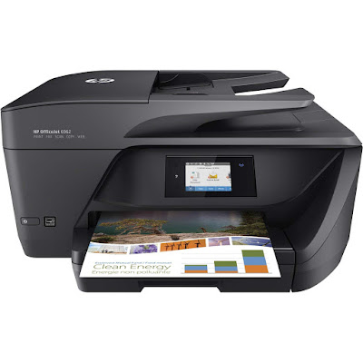 Wireless Colour Photo Printer amongst Scanner HP Officejet 6962 Driver Downloads