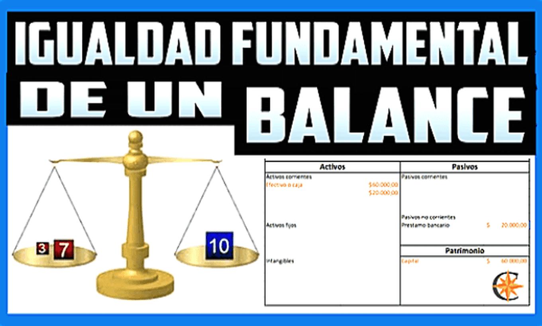 La igualdad fundamental de un Balance