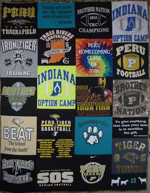 Peru Indiana High School Graduation T Shirt Quilt