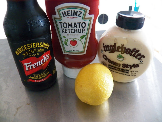 Home made Cocktail Sauce ingredients