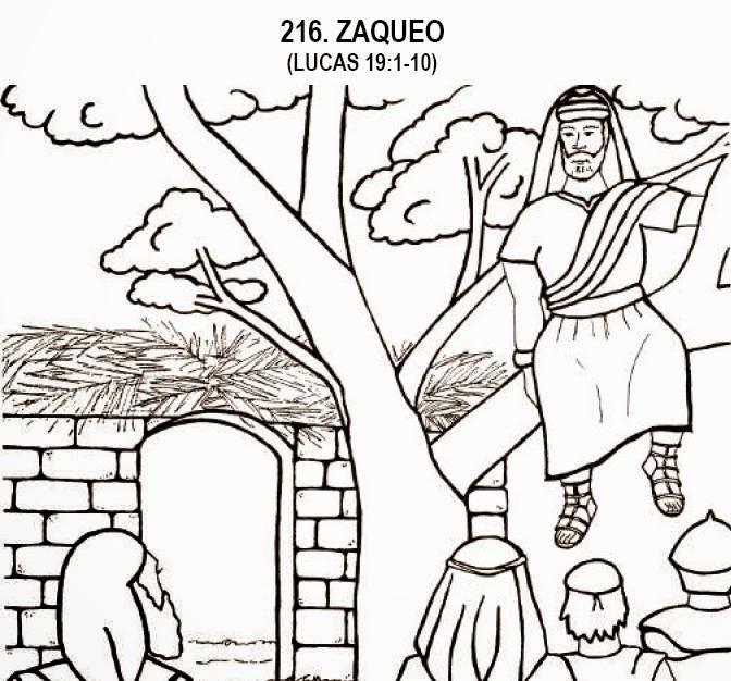 El Renuevo De Jehova: Zaqueo - Imagenes para colorear cristianas ...
