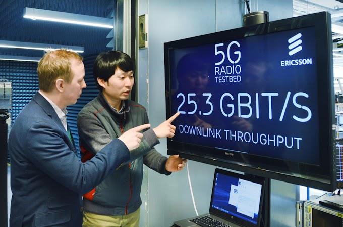 Erricson Melakukan Demo 5G Di India - 5.7Gbps Throughput