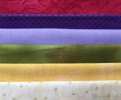 Bonnie Hunter's 2016 Mystery Quilt colours ' En Provence'