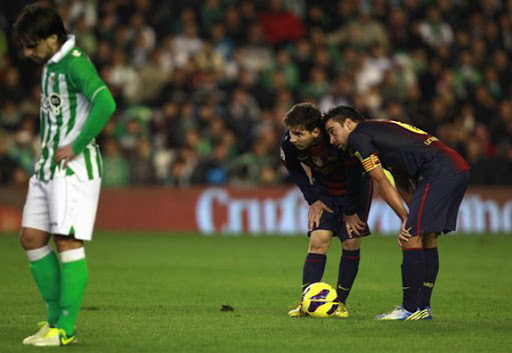 What did Messi & Xavi look at?