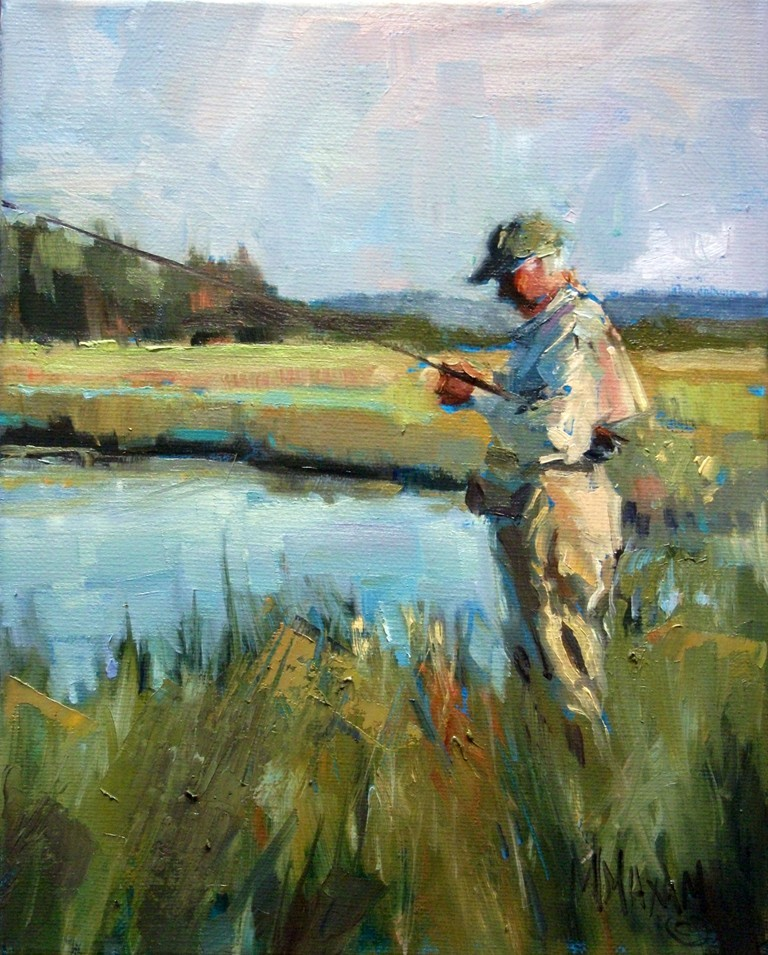 Mary maxam paintings late day light fly fishing for Paintings of fish