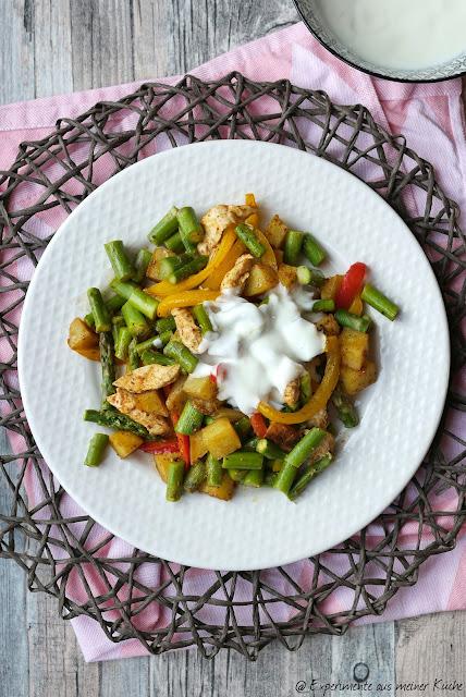 Frühlingsgemüse mit Hähnchen aus dem Ofen | Essen | Kochen | Rezept | Spargel | Weight Watchers