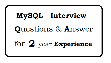 Mysql Interview Question And Answer Pdf