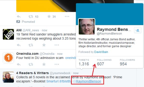 يضيف تويتر ميزة جديدة: مرر مؤشر الماوس فوق اسم الملف الشخصي لعرض الملف الشخصي