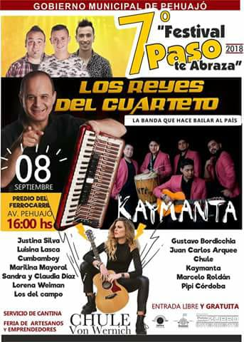 """Los Reyes del Cuarteto en el festival """"Paso Te Abraza"""""""