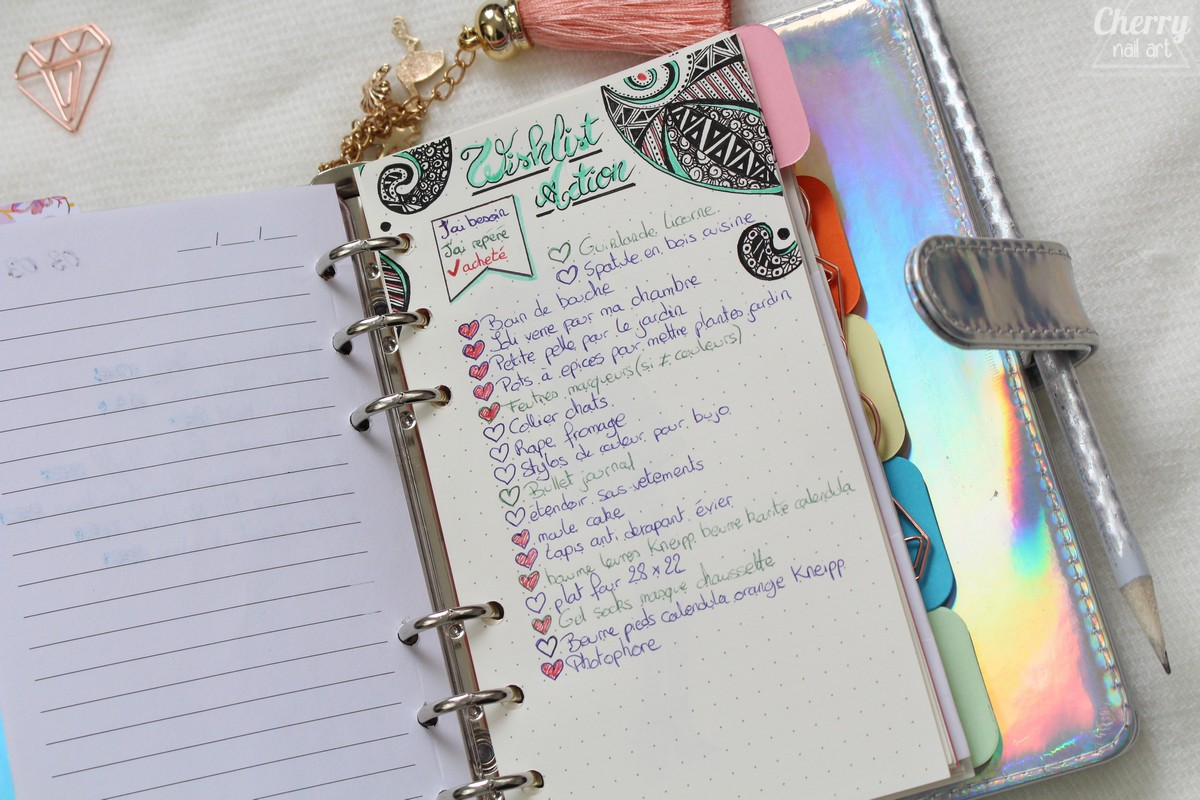 bullet-journal-doodle-wishlist-action
