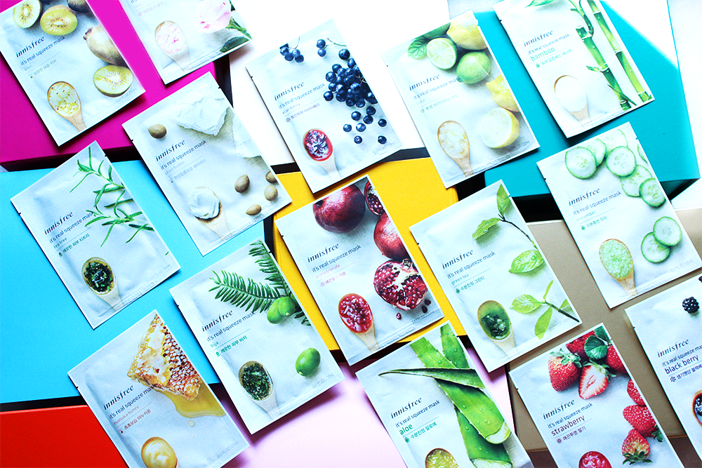 Innisfree It's Real Squeeze Masks review