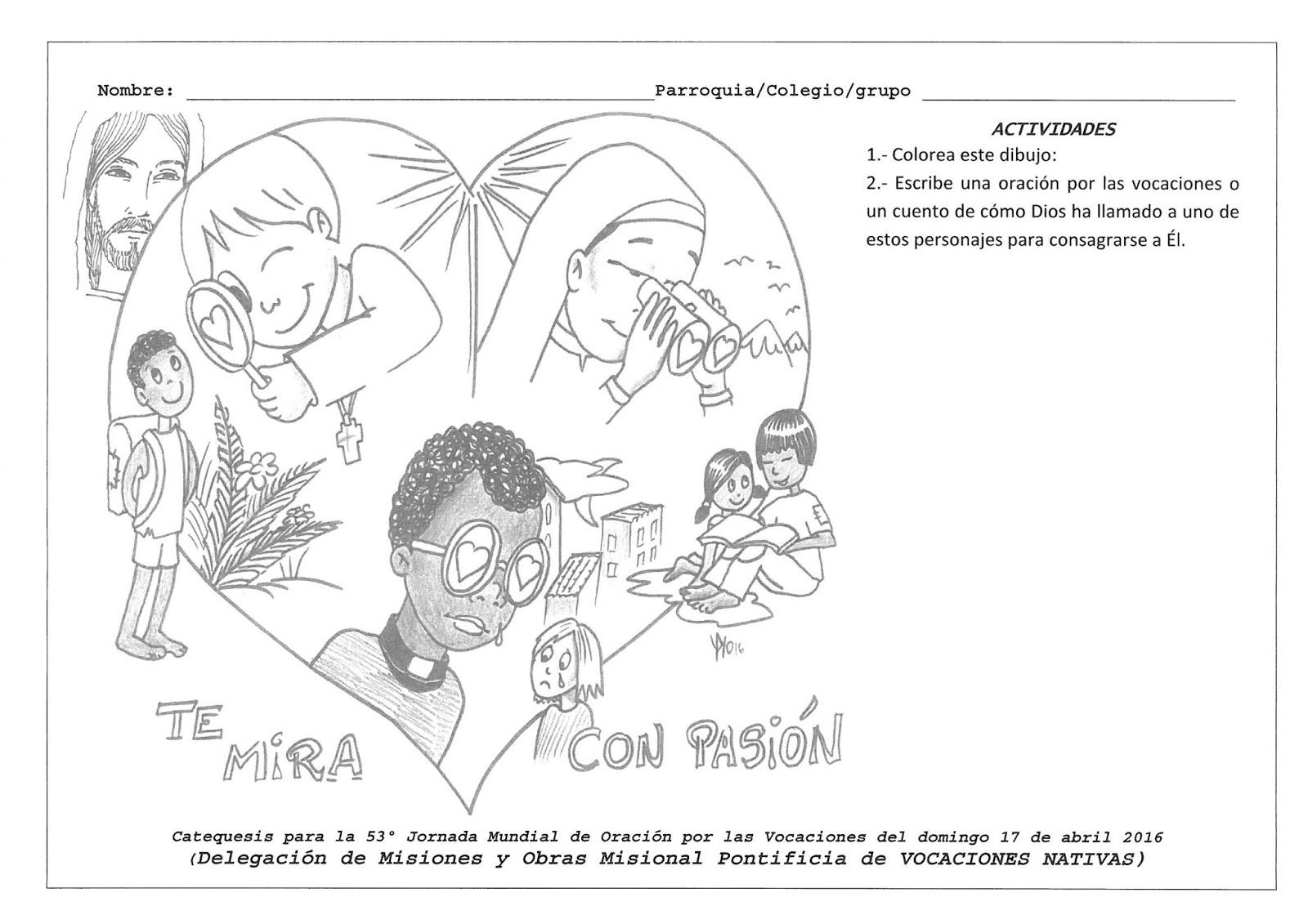 Dibujos De Las Misiones: Catequesis Para Niños Oración Por Las Vocaciones