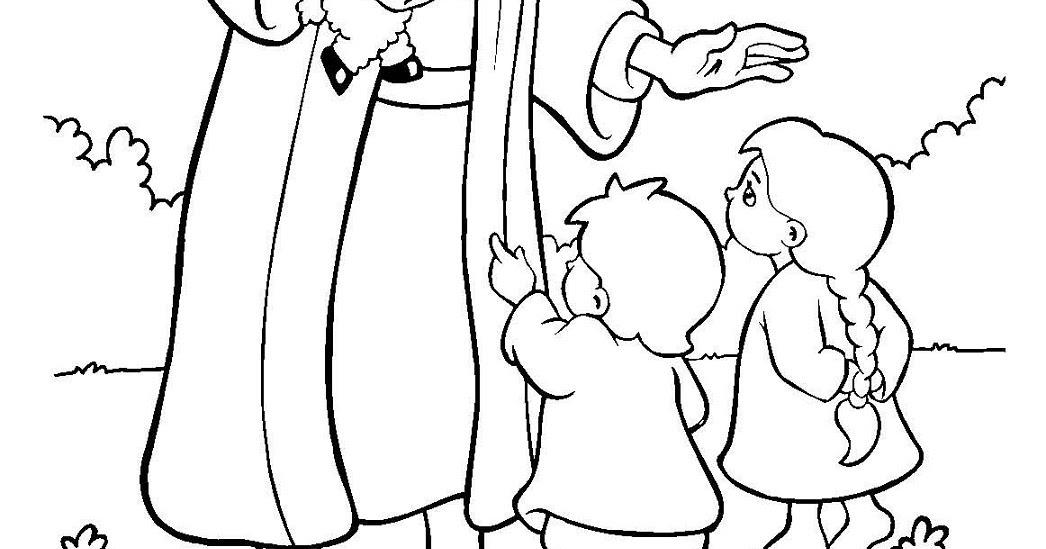 Mewarnai Gambar Tuhan Yesus Dan Anak Anak Pewarna O