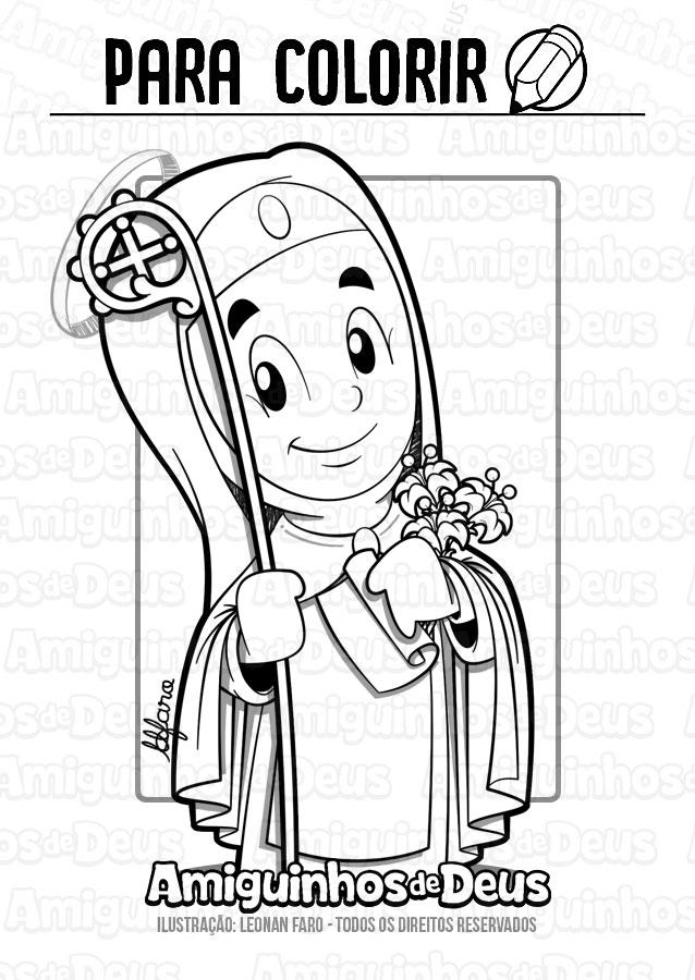 Santa Ângela de Foligno desenho para colorir