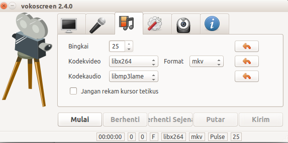 Settings format video yang diambil