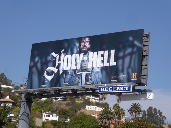 Knightfall Holy Hell series teaser billboard