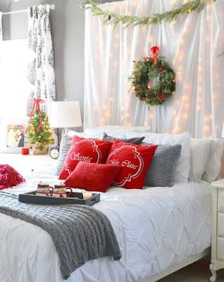 decora tu dormitorio en navidad