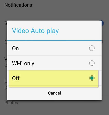 Stop Facebook Video Auto-Play
