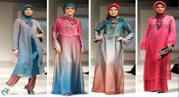 Baju muslim dengan model gamis