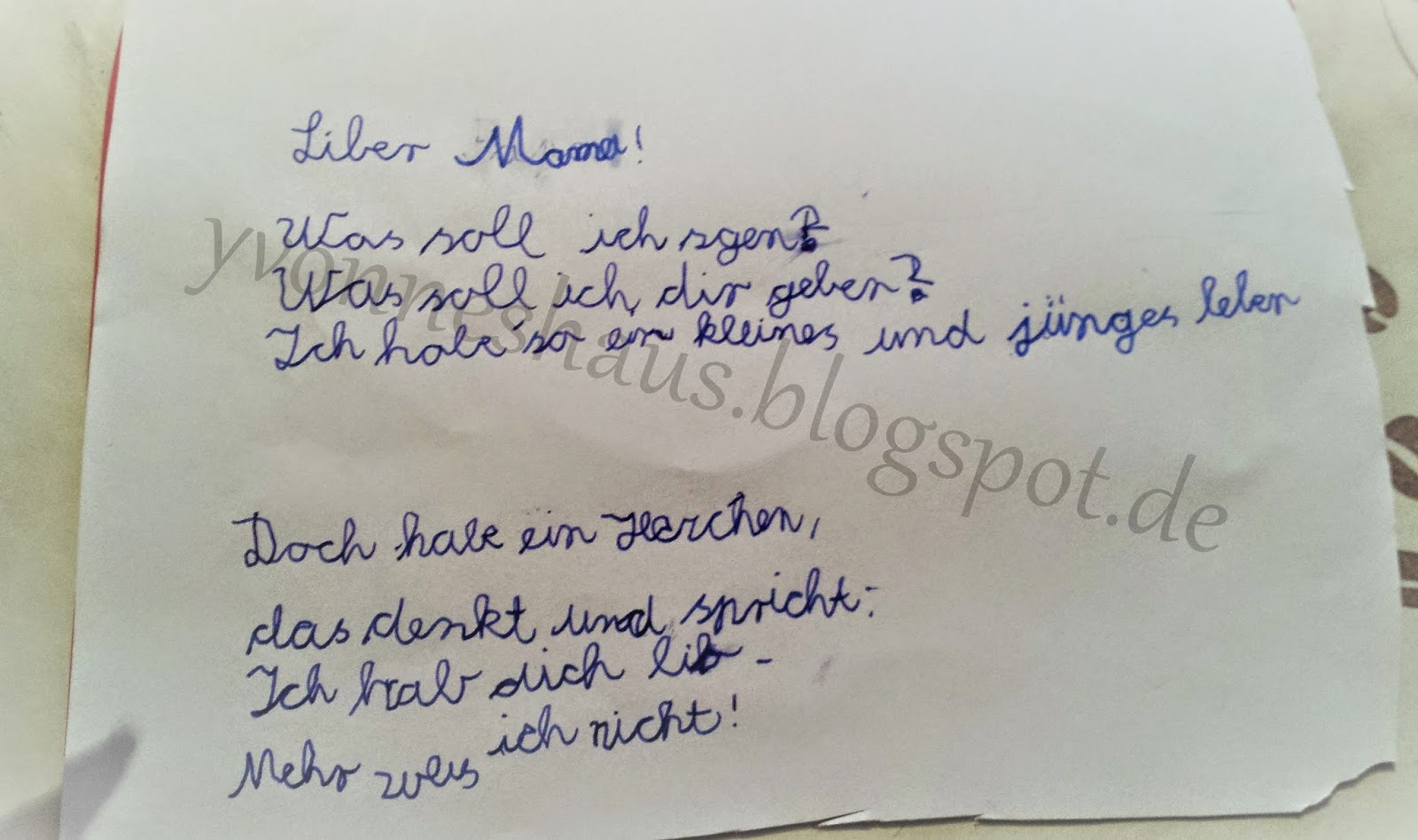 Yvonne S Haus Gedichte Zum Muttertag