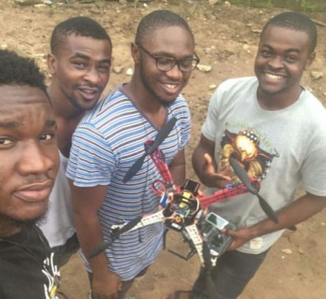 Four final year students from the engineering department in Federal University of Technology Owerri (FUTO) have constructed a quadcopter surveillance drone for the university campus as a school project.