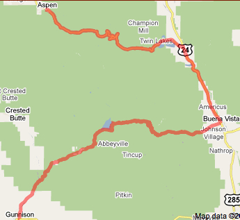 Us Pro Cycling Challenge Route Map USA Pro Cycling Challenge Stage 2 route   Pedal Dancer®