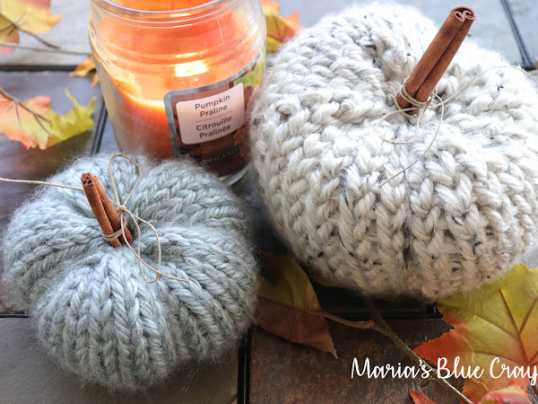 Chunky Crochet and Knit Pumpkins - Free Patterns