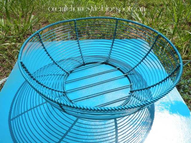 Round wire basket - after
