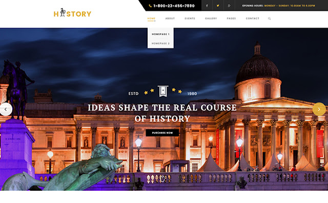 History - Museum & Archeology WordPress Theme