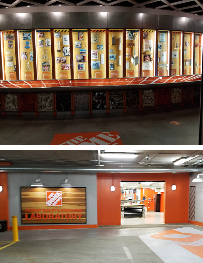 A tour inside the Home Depot Headquarters with a lab and museum
