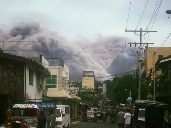Mayon Volcano as of January 17, 2018