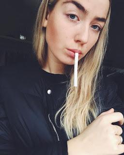 smoking dangling cigarette