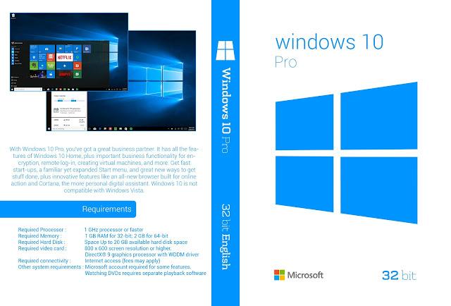Windows 10 32 bit DVD Cover