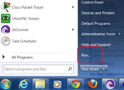 Enable Run Command on Start menu