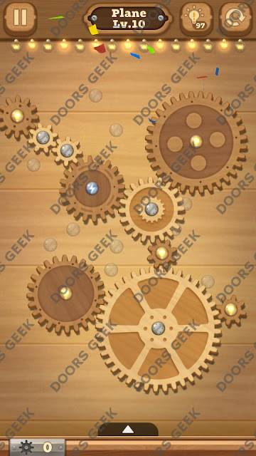 Fix it: Gear Puzzle [Plane] Level 10 Solution, Cheats, Walkthrough for Android, iPhone, iPad and iPod
