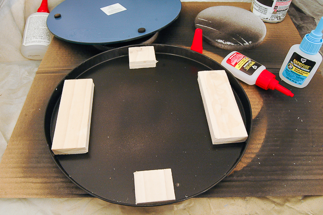 Gluing wood to burner cover