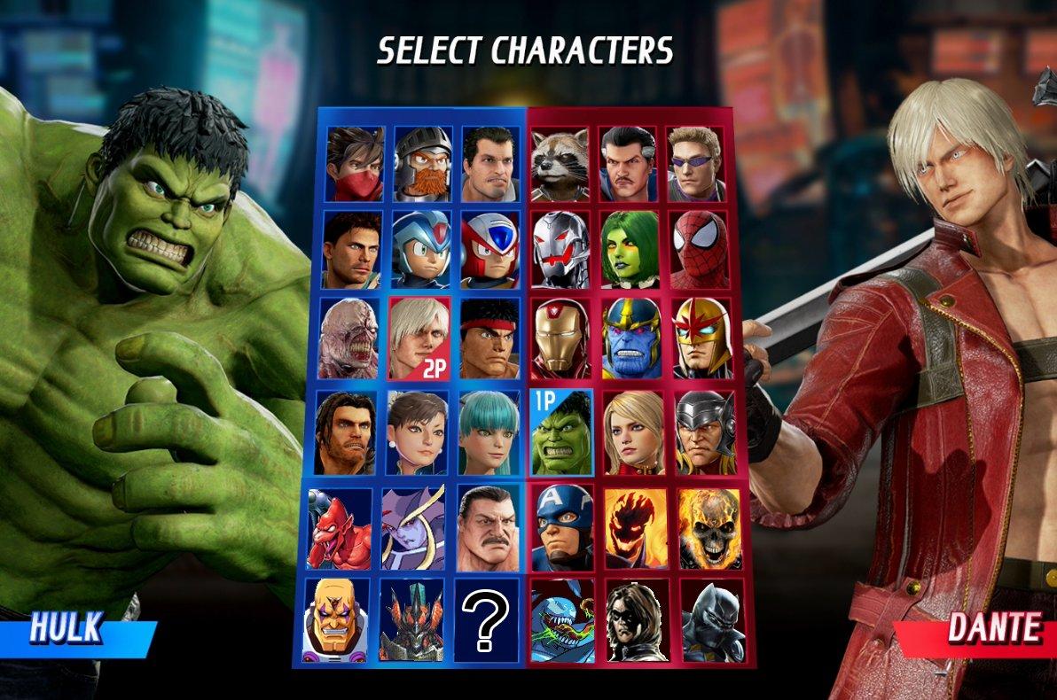 Imagen filtra todos los personajes de Marvel vs Capcom: Infinite