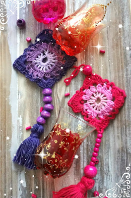 Crochet wall ornament