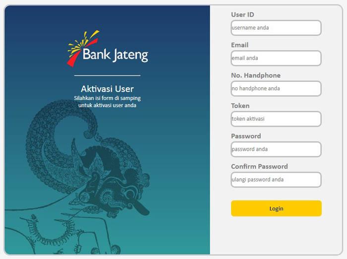 daftar internet banking jateng