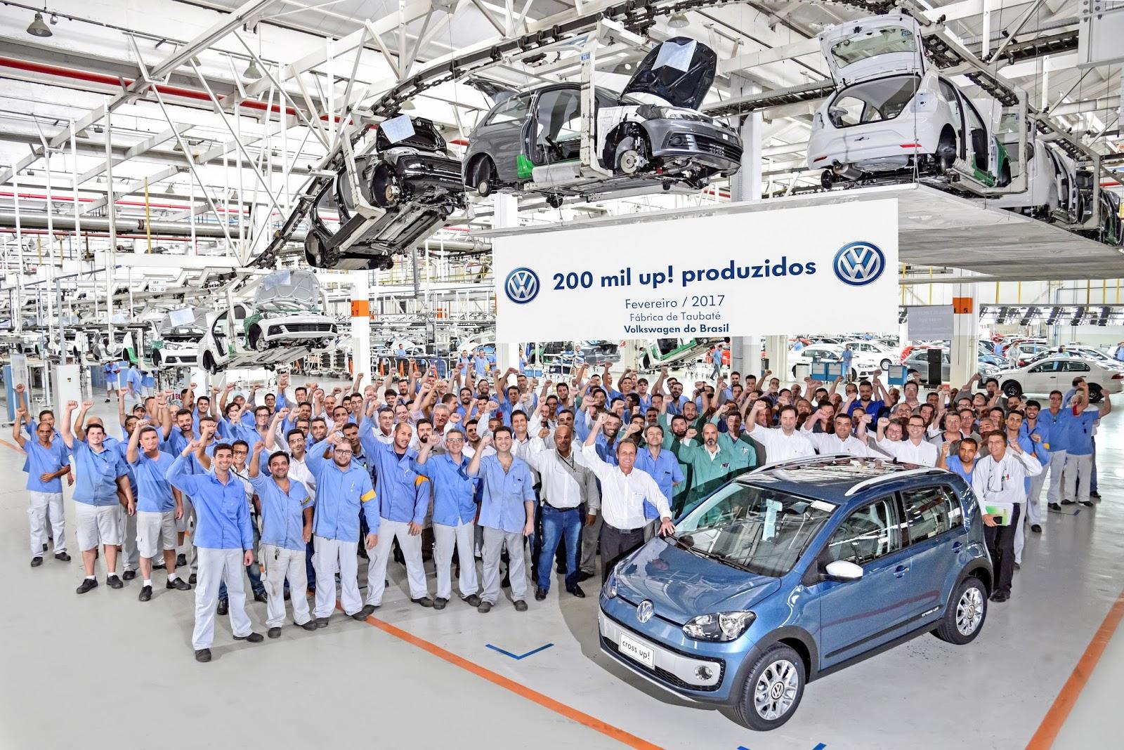 Volkswagen celebra produção de 200 mil unidades do up!, aclamado pelos proprietários