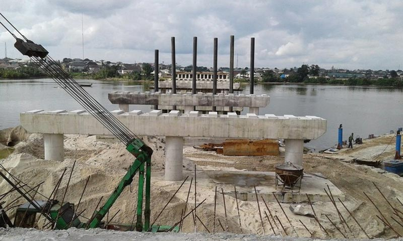 Photos: Wike and Ekweremadu inspect Woji Bridge construction in Port Harcourt