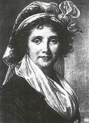 Drawing of Marguerite de Gourbillon