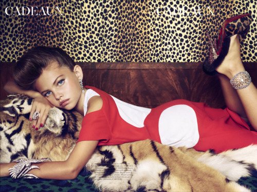 10 year old Thylane Lena-Rose Blondeau for french vogue